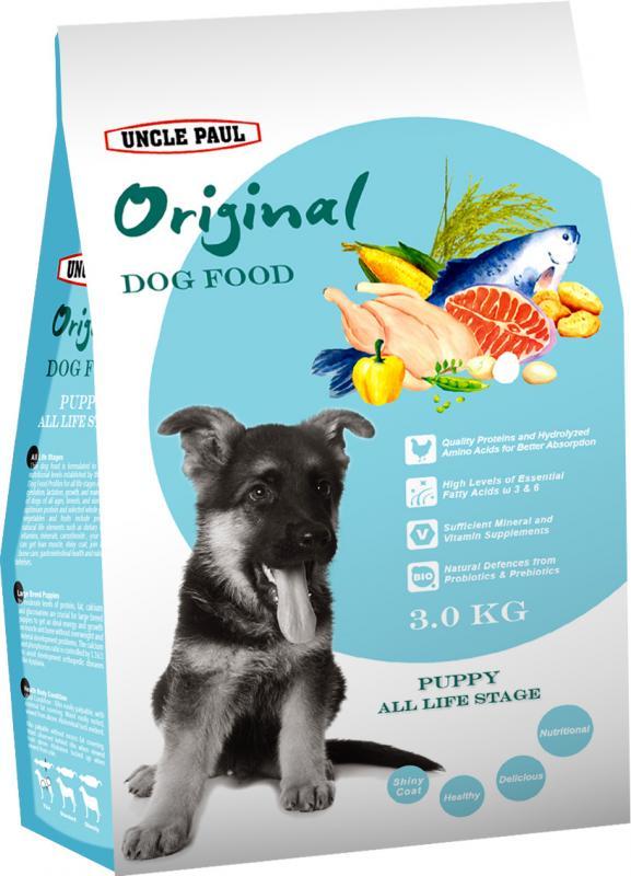 田園生機犬飼料-幼犬 (雞肉+鮭魚) 3kg