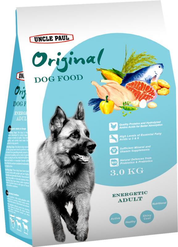 田園生機犬飼料-高能成犬 (雞肉+鮭魚) 3kg