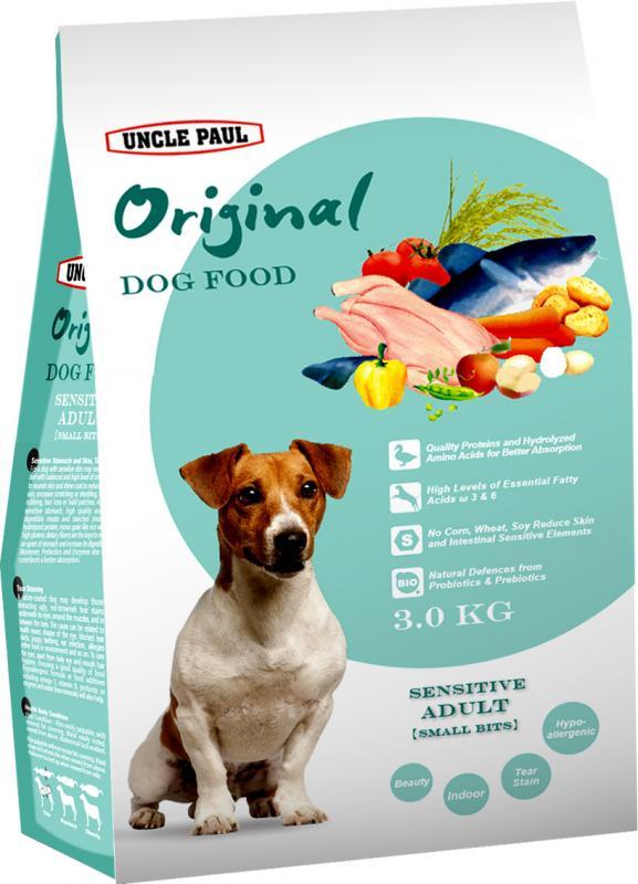 田園生機犬飼料-低敏成犬(小顆粒)  (鴨肉+鱈魚) 3kg