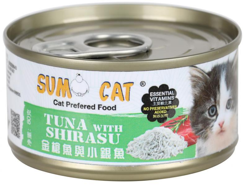 SUMO CAT (金槍魚&小銀魚) 80g (24入)