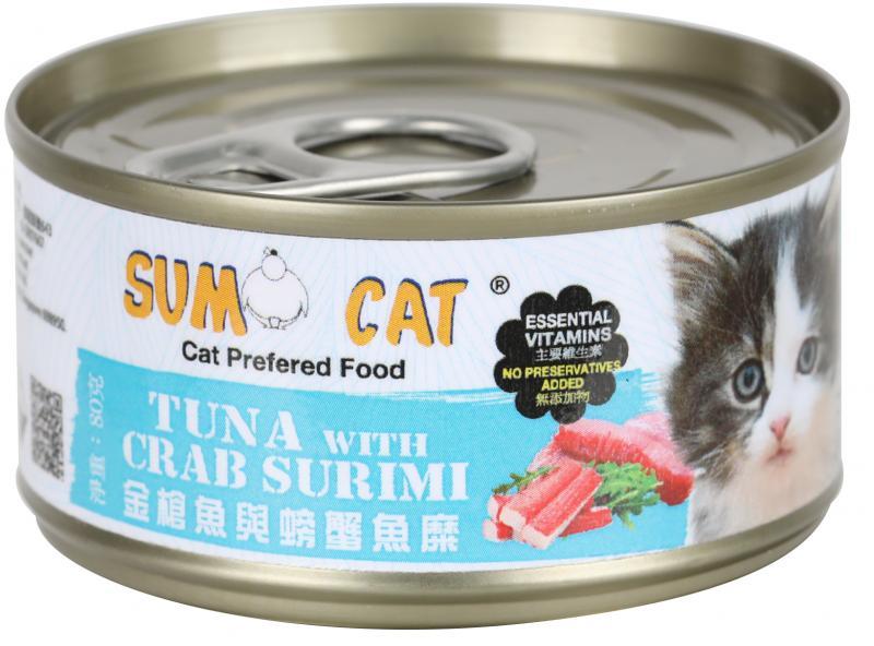 SUMO CAT (金槍魚&螃蟹魚糜) 80g (24入)