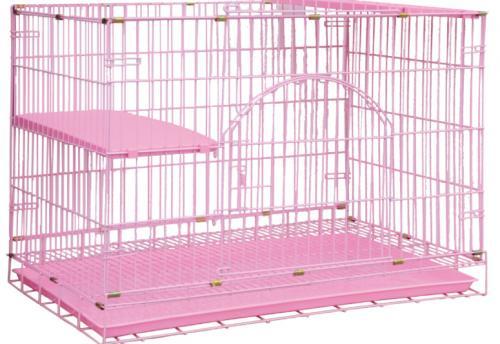 寶麟特製烤漆貓籠 (單層)粉紅色