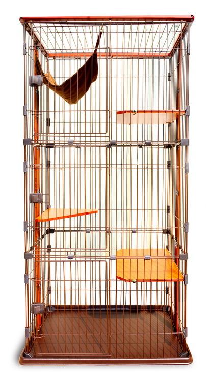寶麟特製實木貓籠(三層)