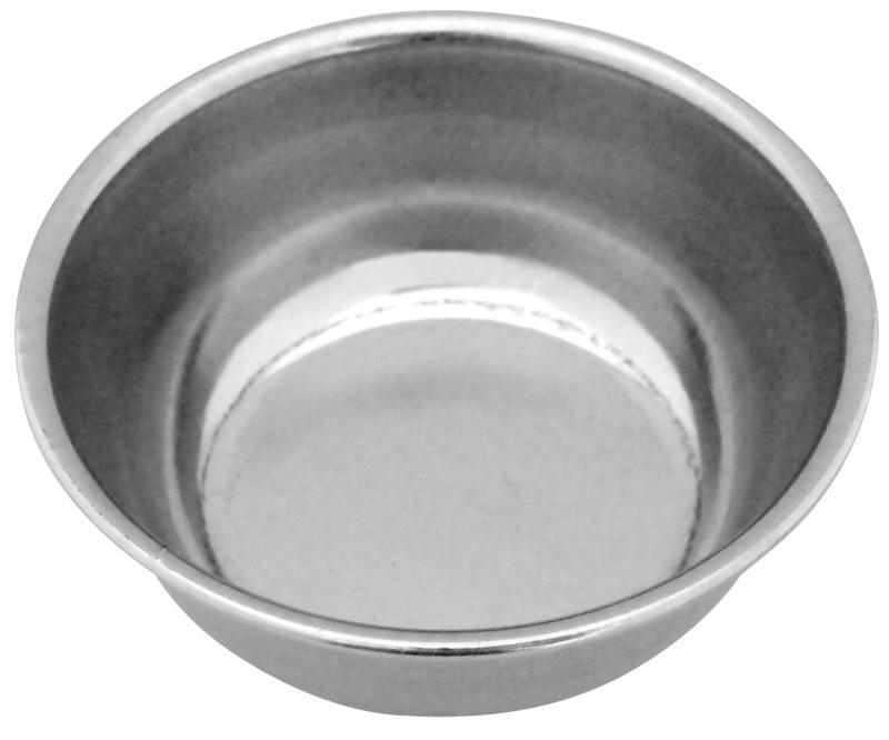 4號圓狗碗 (白鐵)