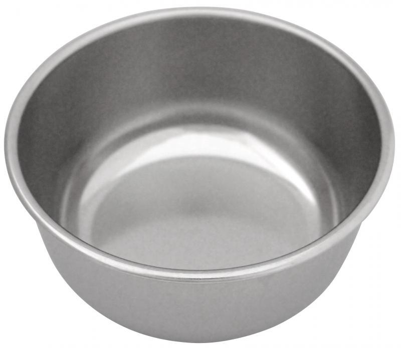 3號圓狗碗 (白鐵)