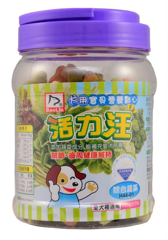 活力汪骨型餅乾(綜合蔬菜)190g