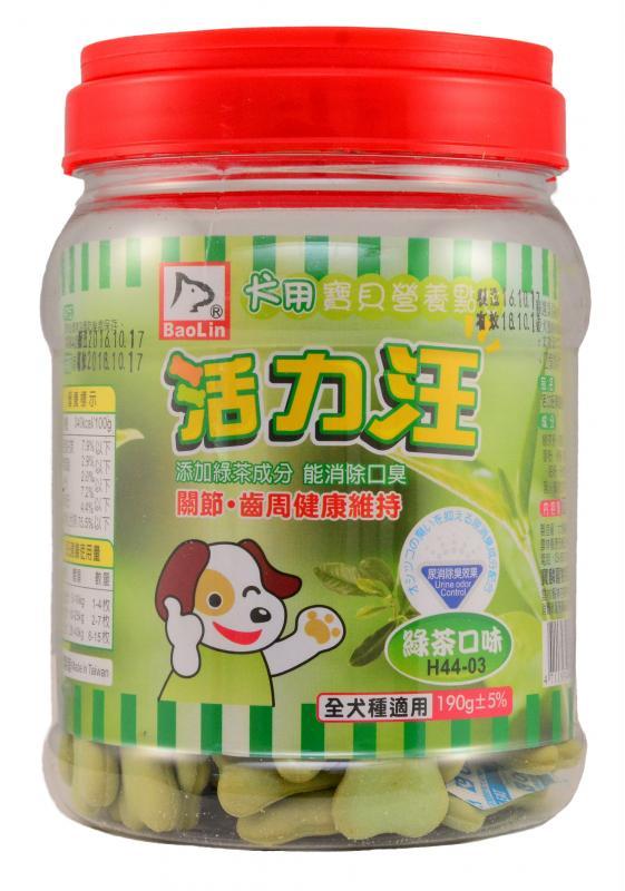 活力汪骨型餅乾(綠茶口味)190g
