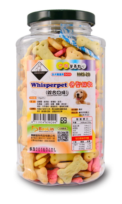 Whisperpet骨型餅乾(綜合口味)130g