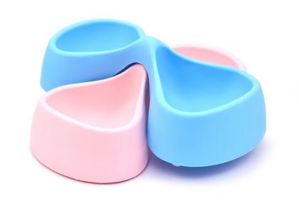 優米卡寵物蝴蝶雙碗
