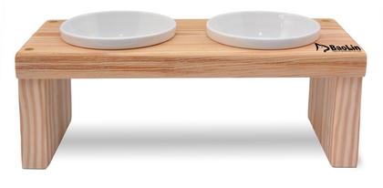 優米卡木碗架 平雙碗(低)
