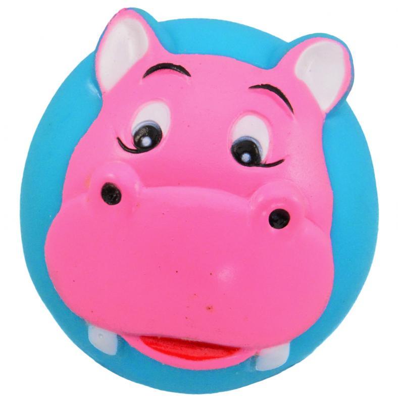塑膠玩具  (動物球)河馬