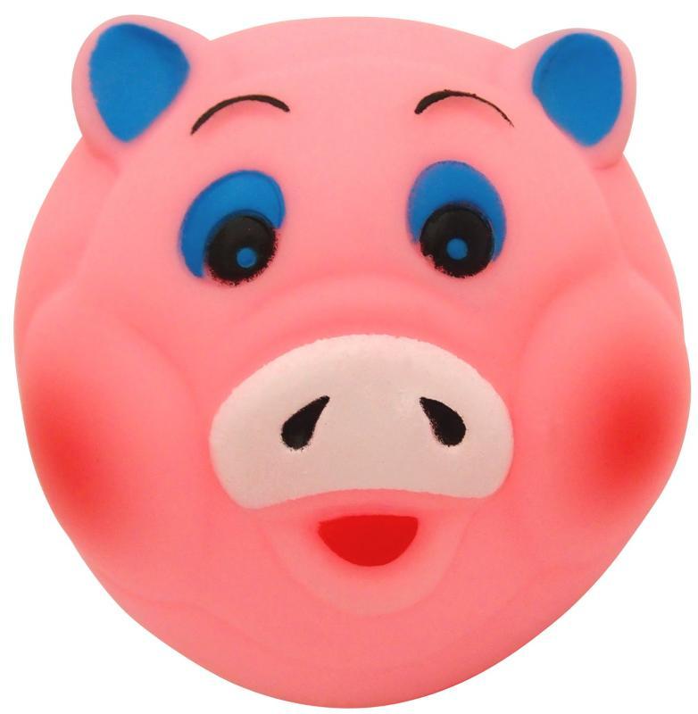 塑膠玩具  (動物球)豬