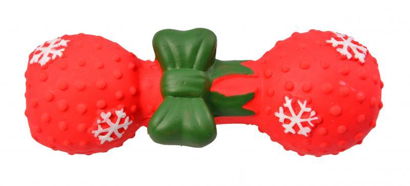 優米卡乳膠玩具聖誕啞鈴(中)