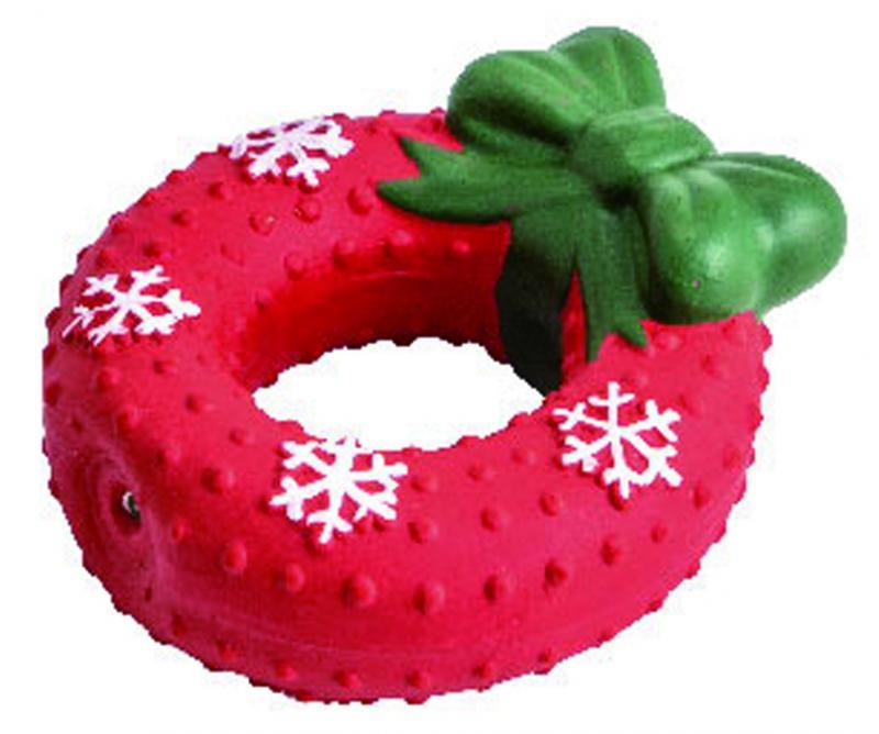 優米卡乳膠玩具聖誕蝴蝶結甜甜圈