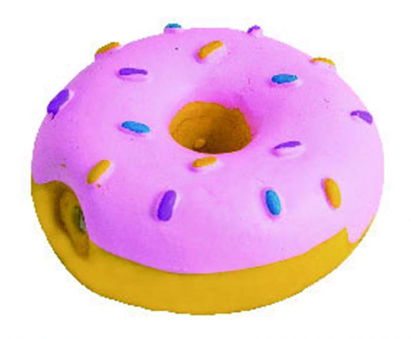 優米卡乳膠玩具甜甜圈(粉紅色)