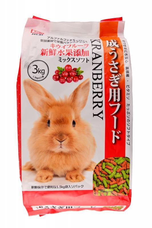 成兔專用飼料 蔓越莓(3kg)