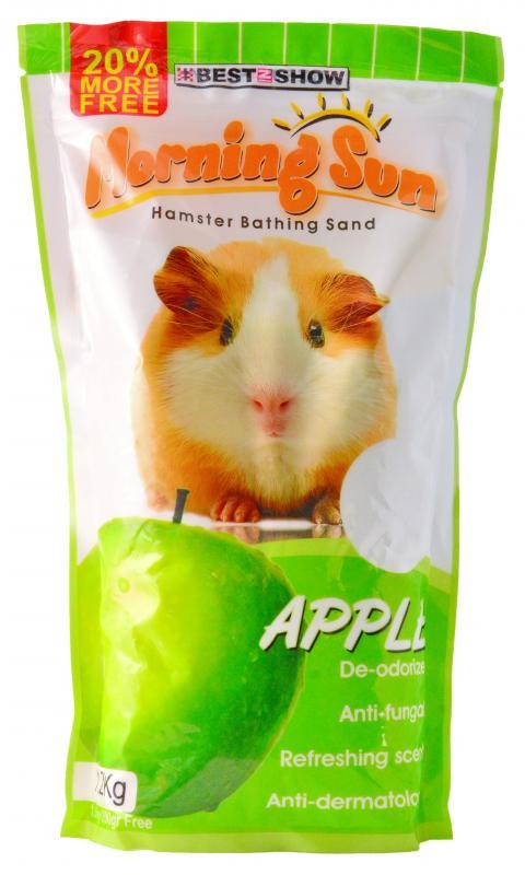 優米卡倉鼠專用沐砂1.2Kg 青蘋果