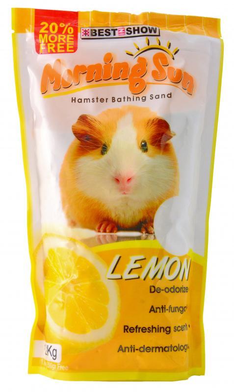 優米卡倉鼠專用沐砂1.2Kg 檸檬