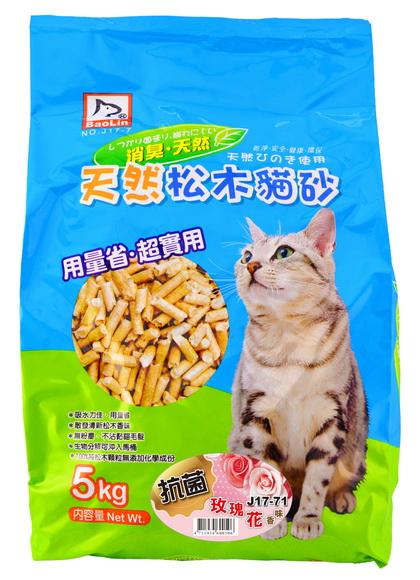 寶麟松木屑(貓.小動物)5kg 玫瑰香味
