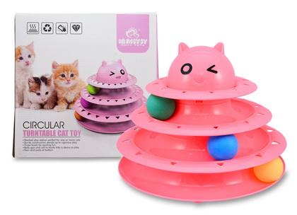 貓讚三層貓玩具(貓形)