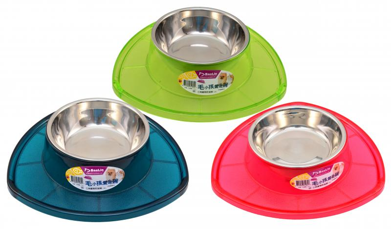 優米卡三角寵物防溢碗(L)ABS