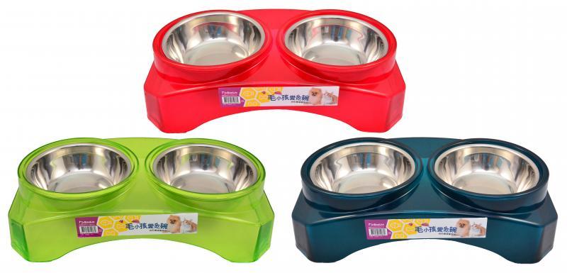 優米卡拱形雙連寵物碗(L)ABS