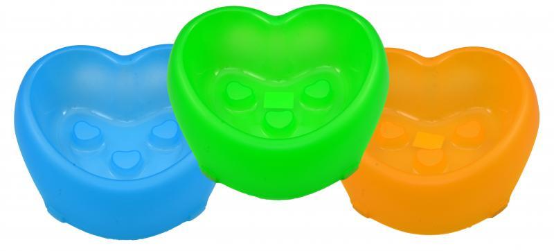 塑膠心型止滑碗(大)