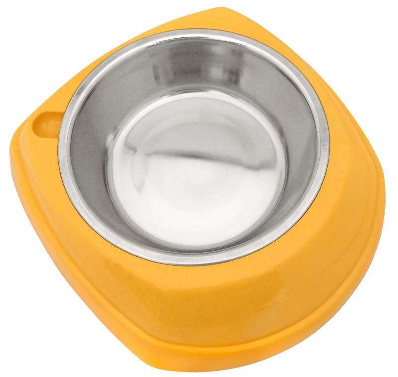 造型塑膠+白鐵碗(L)
