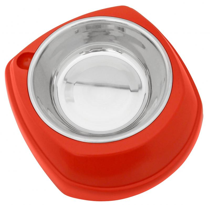 造型塑膠+白鐵碗(M)