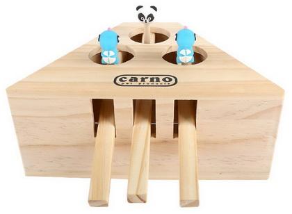 優米卡貓玩具 實木打地鼠機(3孔)