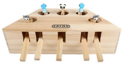 優米卡貓玩具 實木打地鼠機(5孔)