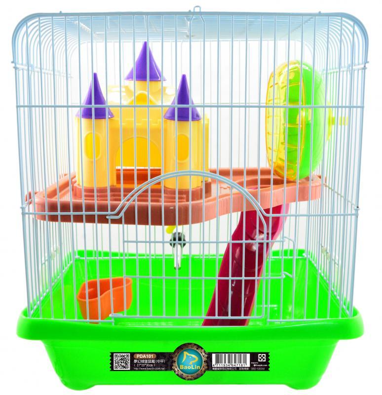 夢幻城堡鼠籠(中平) 粉.綠.黃.藍