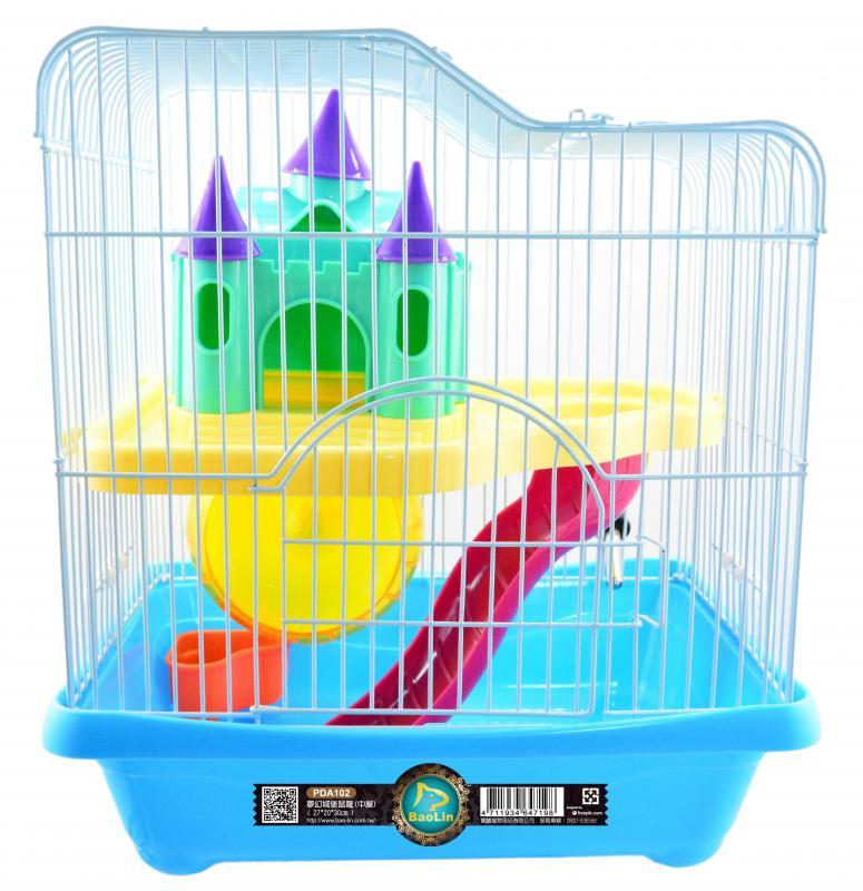 夢幻城堡鼠籠(中屋) 粉.綠.黃.藍