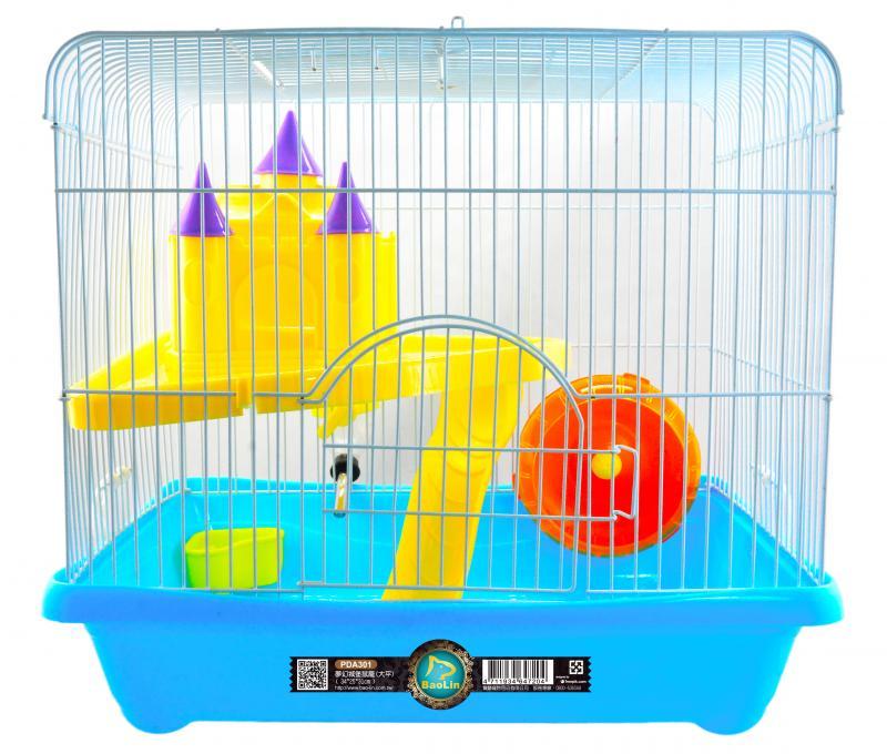 夢幻城堡鼠籠(大平) 粉.綠.黃.藍