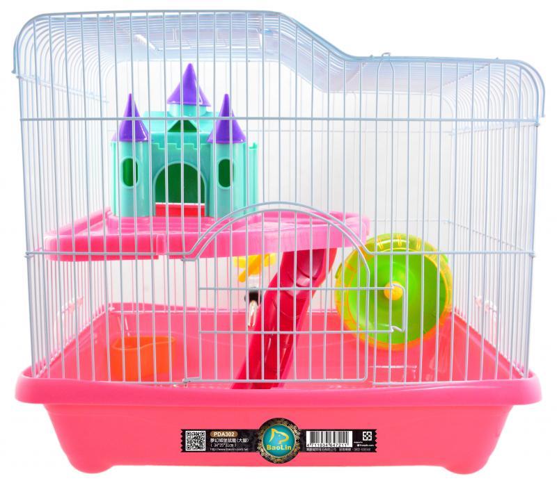 夢幻城堡鼠籠(大屋) 粉.綠.黃.藍