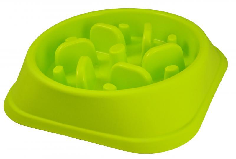 優米卡寵物慢食碗(四角形)