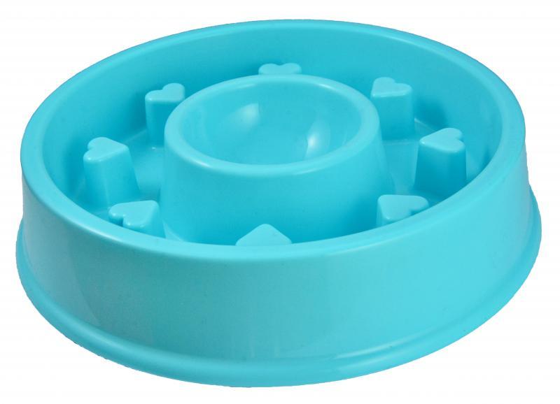優米卡寵物慢食碗(圓形+心形)