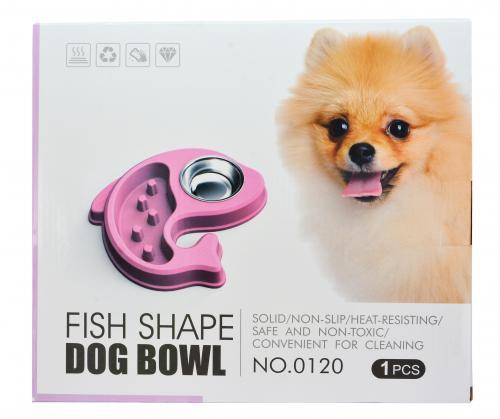 優米卡寵物雙用慢食碗(海豚造型)