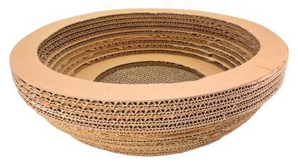 優米卡紙抓板(碗型)