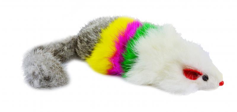 貓絨毛玩具(彩色鼠)
