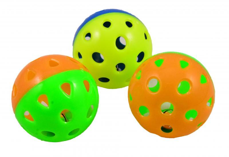 貓玩具(彩球) 3入